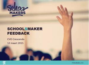 Beeld presentatie SchoolSmaker 'Feedback'